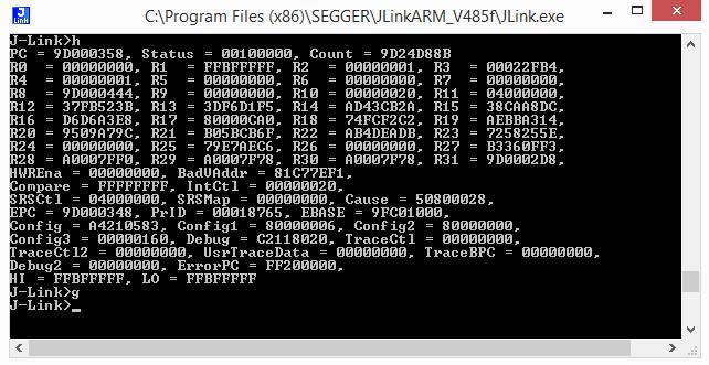 J-Link Commander - Developer Help