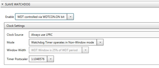 Configuring the dsPIC33CH Master Project - Developer Help