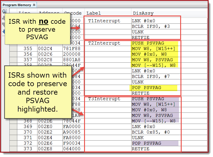 Program Space Visibility - Reading Flash Memory on a 16-bit