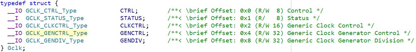Accessing SAM MCU Registers in C - Developer Help
