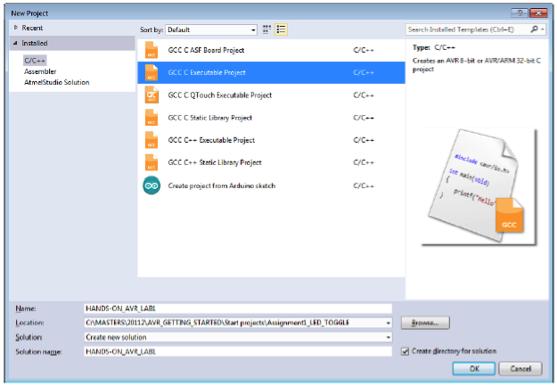 Digital I/O Project on AVR® Xplained 328PB - Developer Help