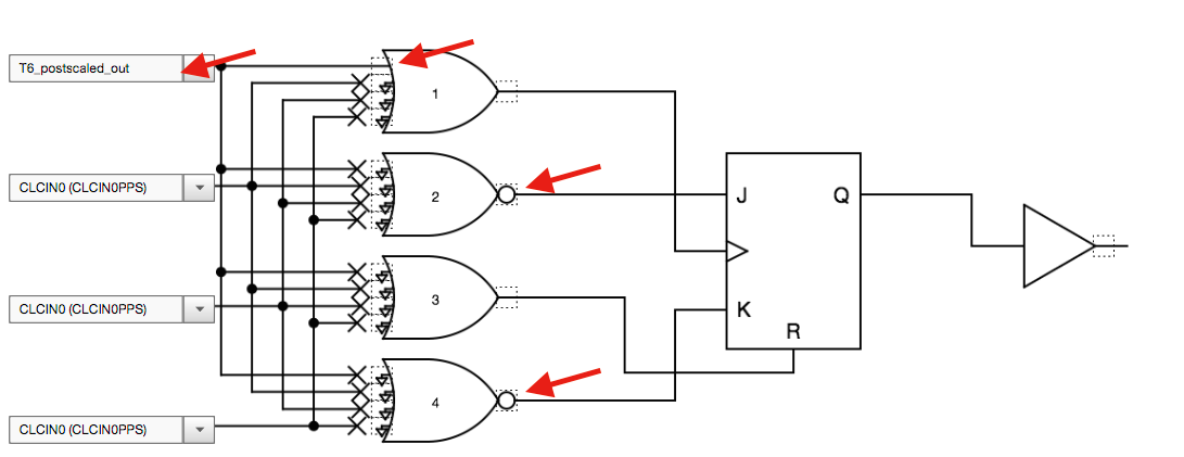 Using The Clc Jk Flipflop To Control An Io Port Developer Help
