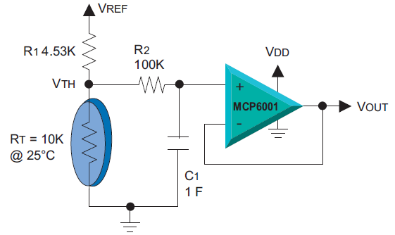 signal conditioning of thermistor Sensor and signal conditioning circuits all located on a single integrated circuit in this example, the thermistor is the best bet, but this may not.