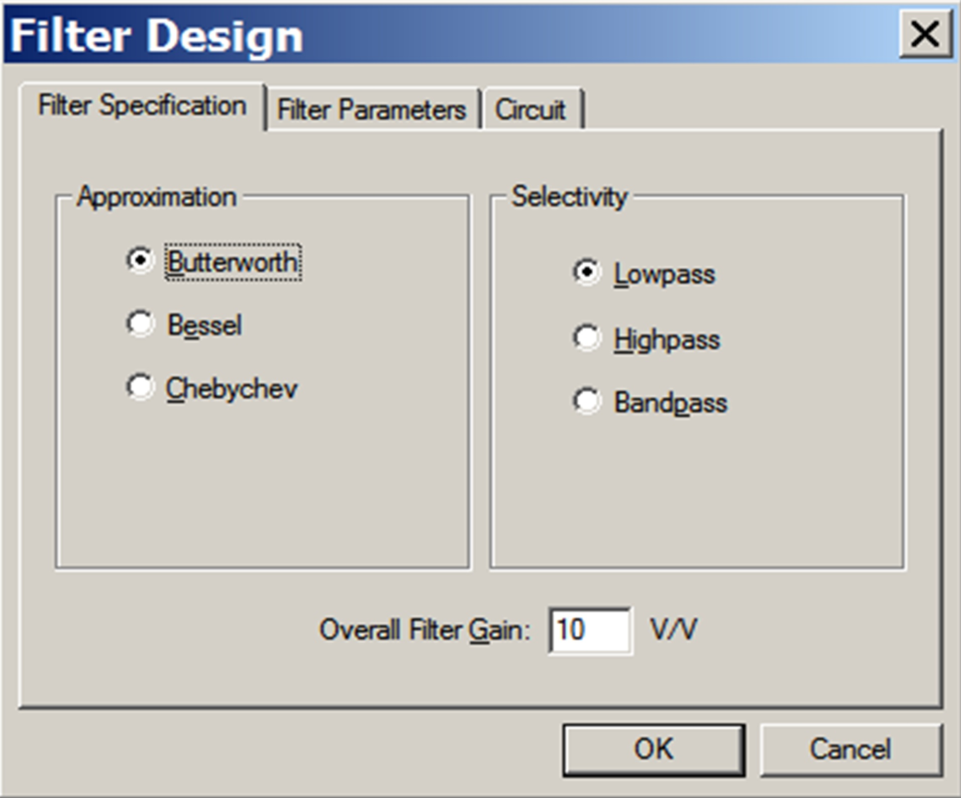 Filter Design Example Developer Help Circuits Gt Ac Power And Phone Line Homemade Circuit 2