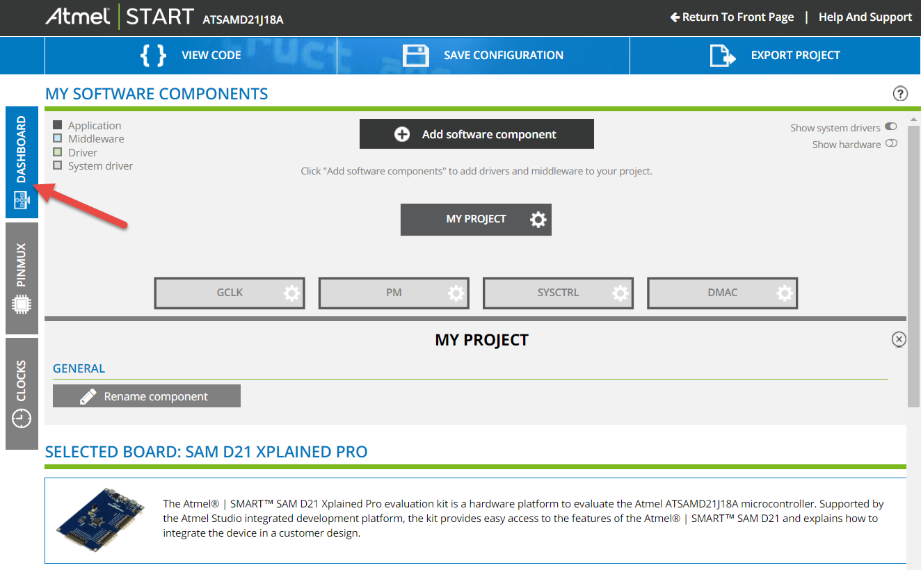 Using Atmel START with the SAM D21 MCU ADC and I²C - Developer Help