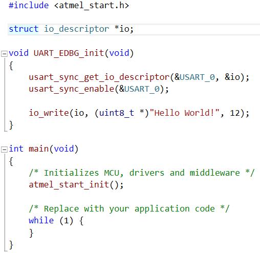 Using Atmel START with the SAM D21 MCU UART - Developer Help