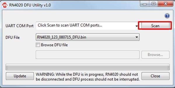RN4020 Device Firmware Update (UART) - Developer Help