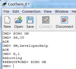 RN4870 Command Mode - Developer Help
