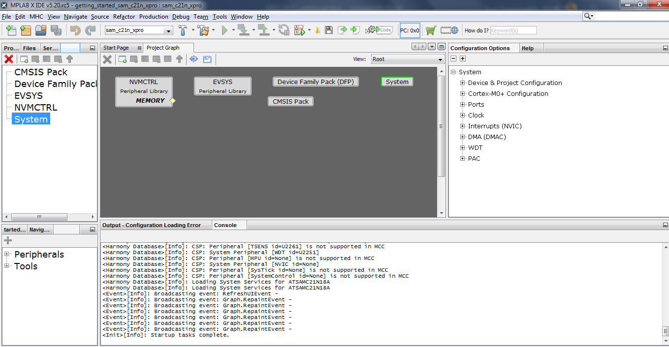 Harmony v3 Peripheral Libraries on SAMC2x: Step 1 - Developer Help