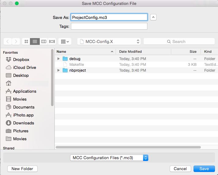 Saving/Adding an MCC Configuration Setup - Developer Help