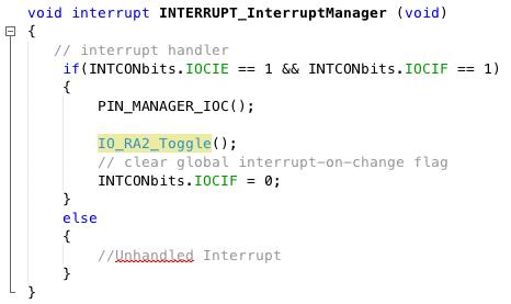 Interrupt on Change - Developer Help