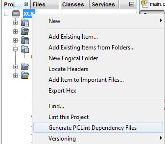 ContextMenuPCLint_DependencyFiles.png