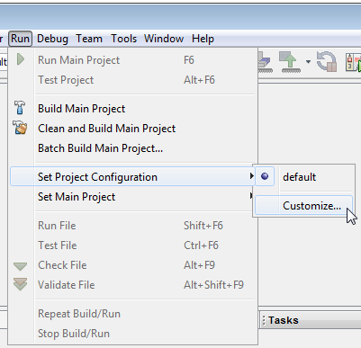 Configuring Project Build Options - Developer Help
