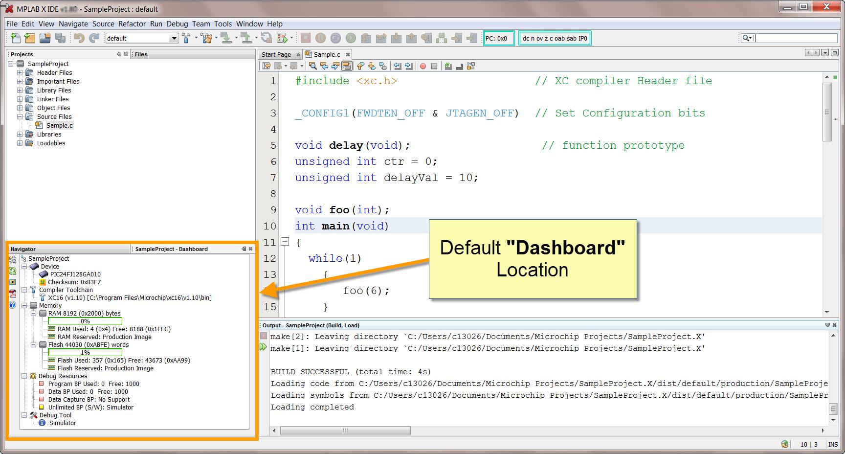 MPLAB X Dashboard - Developer Help
