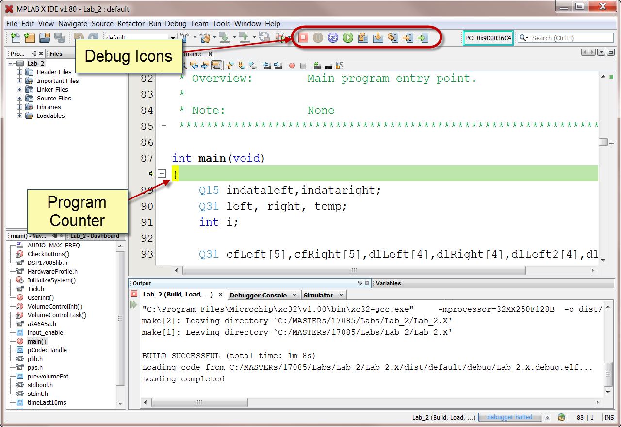 MPLAB® X IDE: Running A Debug Session - Developer Help