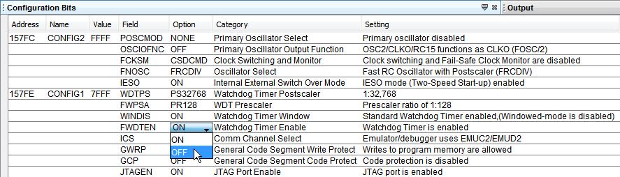 View and Set Configuration Bits - Developer Help