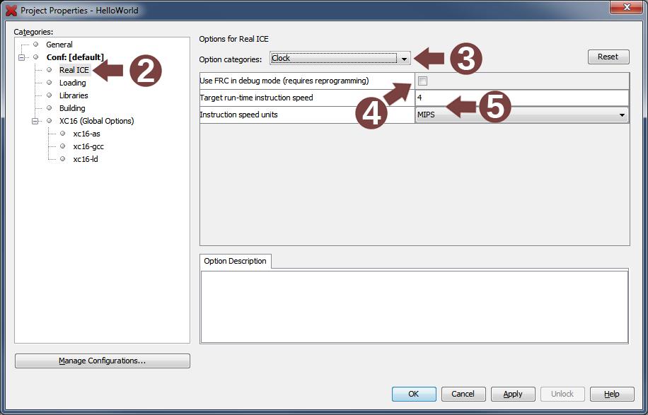 Debug Clock Selection and Speed - Developer Help