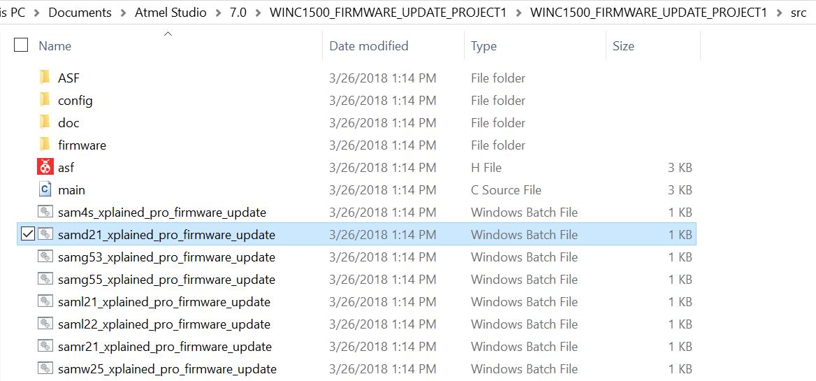 WINC1500 Firmware Update - Developer Help