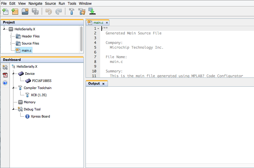 Importing a Project into MPLAB® Xpress - Developer Help