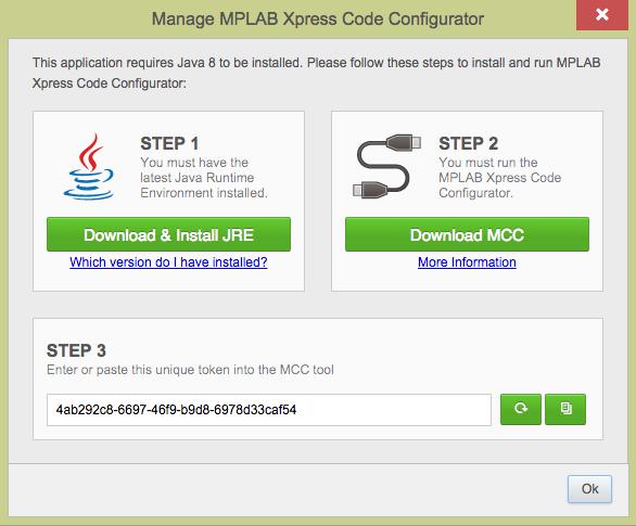 Opening MCC in MPLAB® Xpress - Developer Help