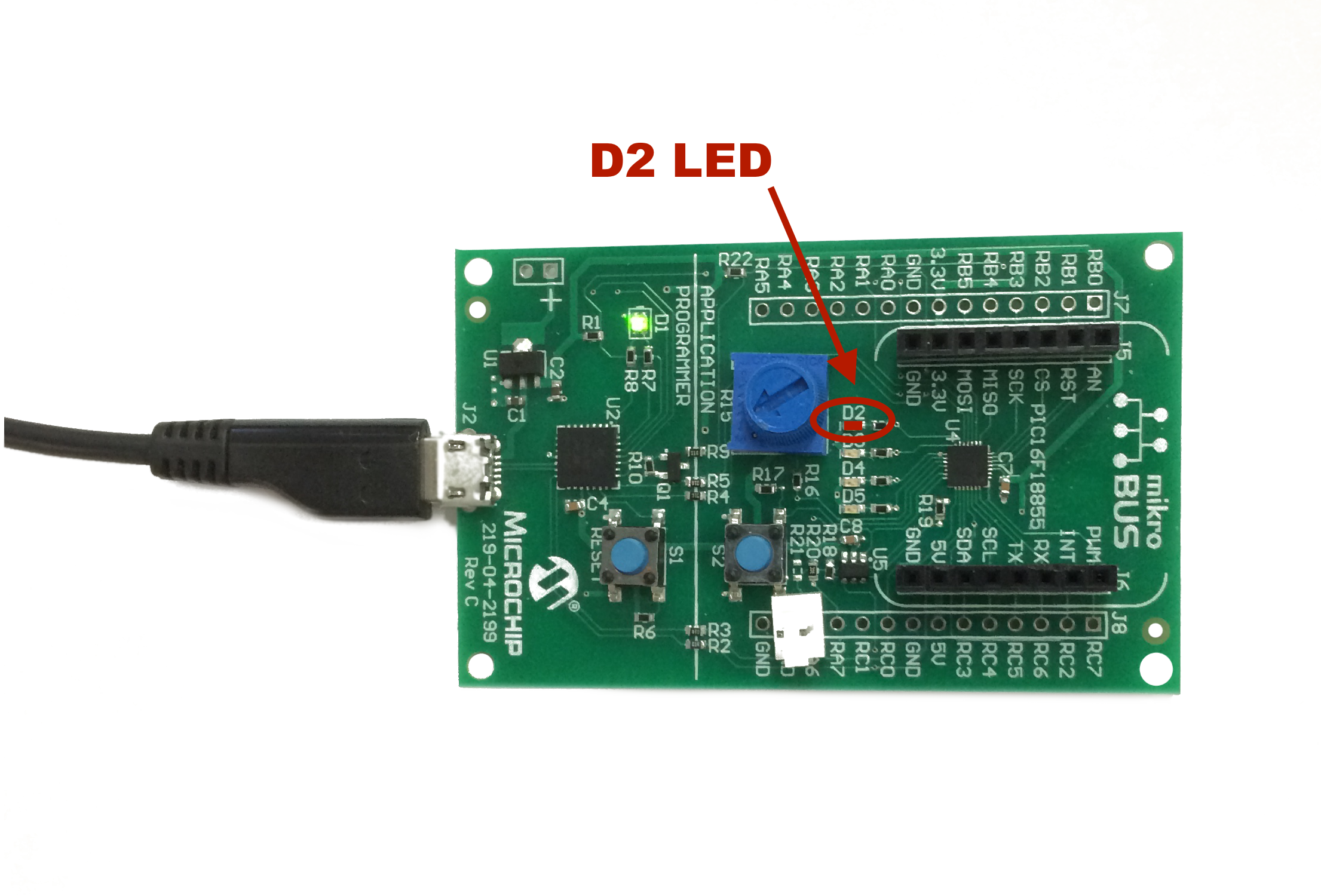 Hello World Light An Led Developer Help Engine Running Detection Electronics Forum Circuits Projects And In This Project Emitting Diode Is Turned On By The Pic16f18855 Microcontroller Using Xpress Development Board Platform